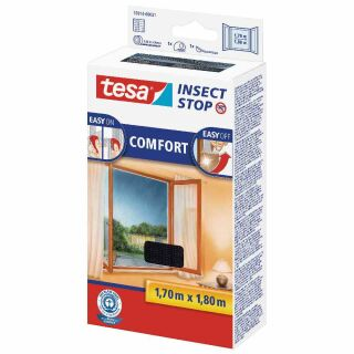 TESA Fliegengitter anthra. 170x180 Comfort-Fenster